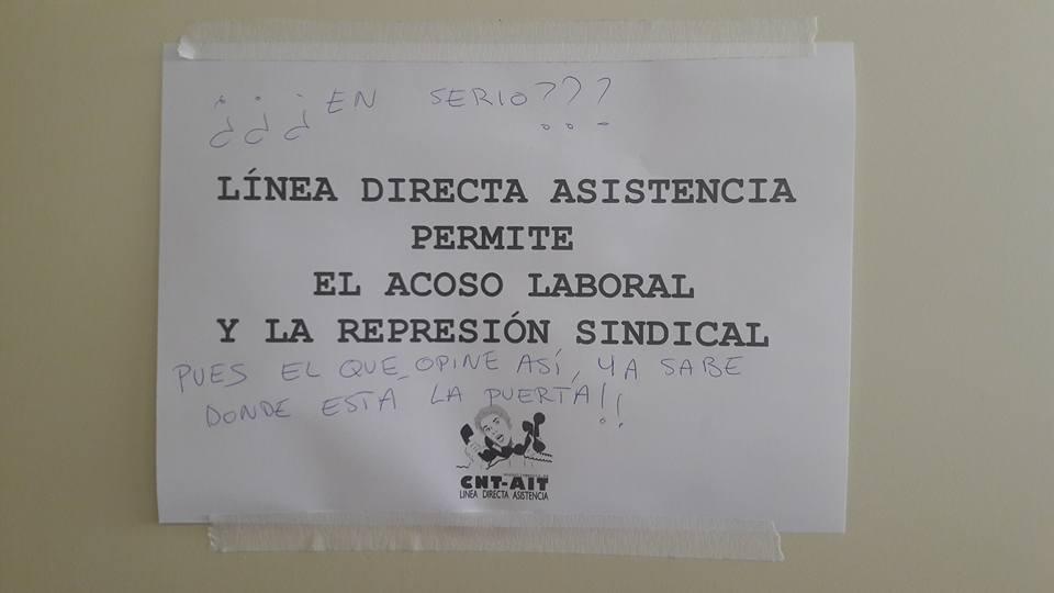 Tranquilx lxs payasxs est n en la oficina cnt ait for Oficinas de mrw en madrid
