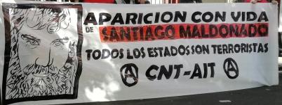 Foto de la pancarta